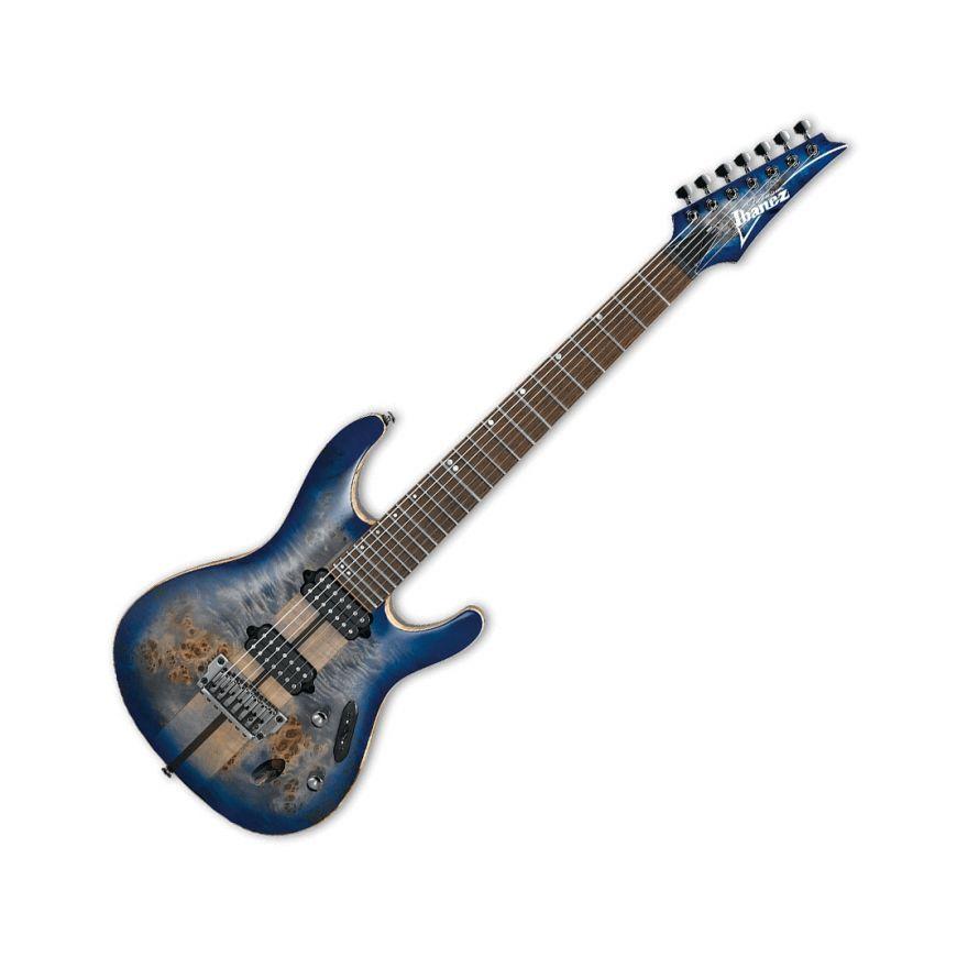 Ibanez S1027PBF Cerulean Blue Burst - Chitarra Elettrica 7 Corde