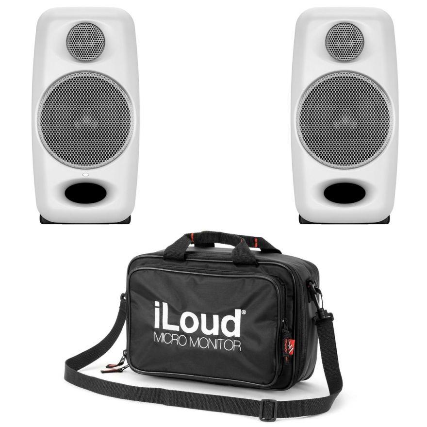 IK Multimedia iLoud Micro Monitor White (Coppia) con Borsa