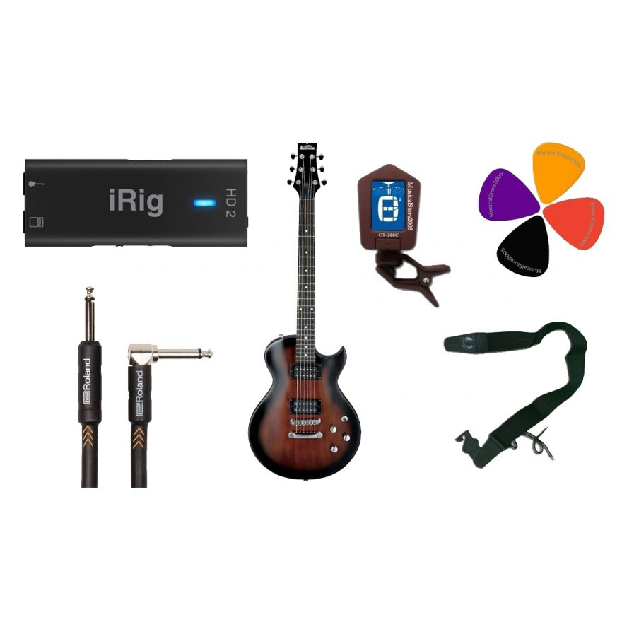 Guitar Recording Pack: iRig HD2 / IBANEZ GART60 WNS / Accessori