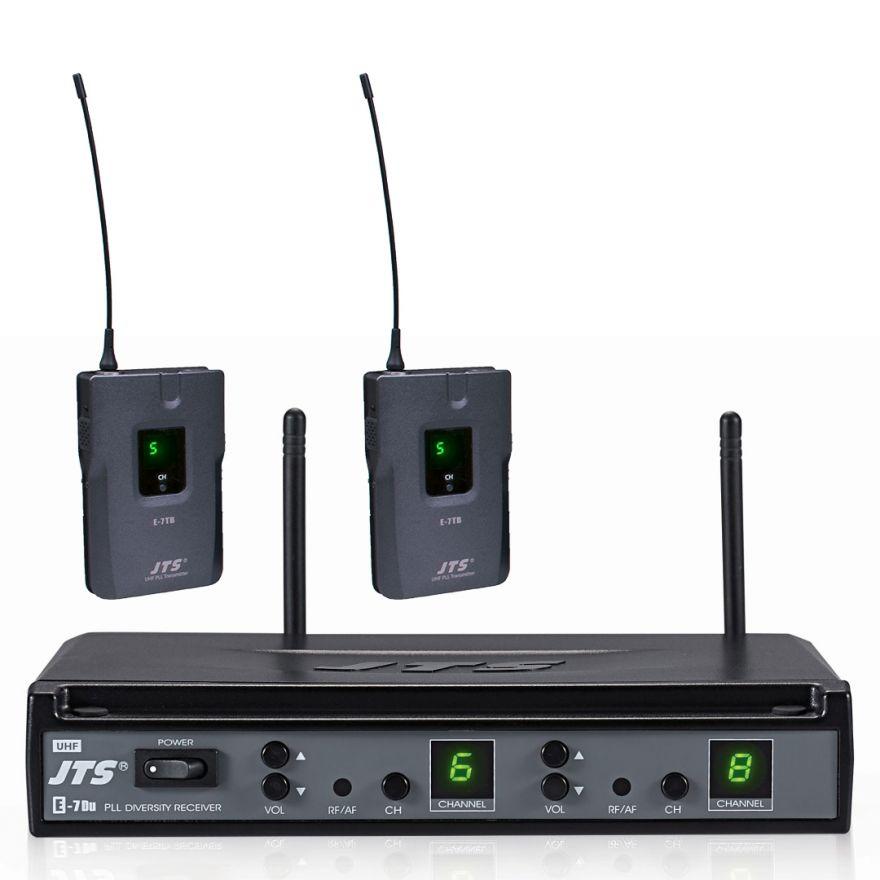 JTS E-7DU/E-7TBD - Radiomicrofono UHF Doppio Bodypack