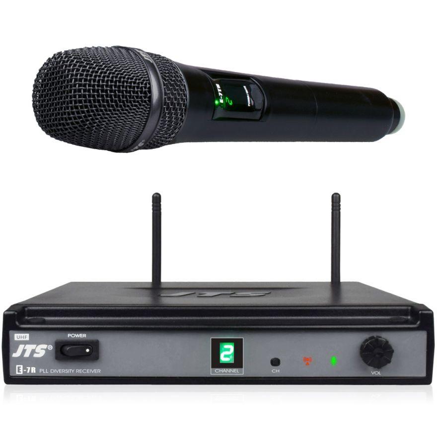 JTS E-7R/E-7THD - Radiomicrofono UHF con Palmare Singolo