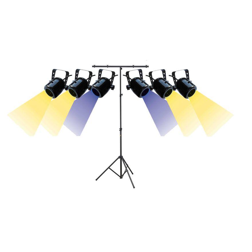 KARMA Set HALO SPOT LED / UV / Treppiedi per Luci Bundle