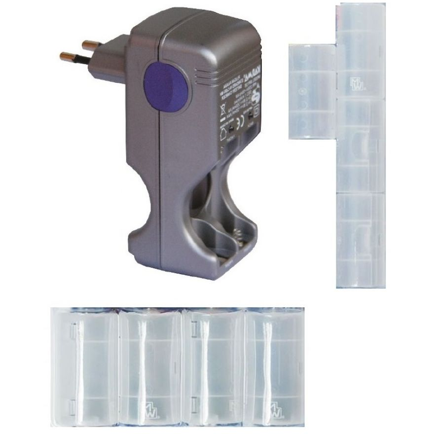 caricabatterie con adattatori