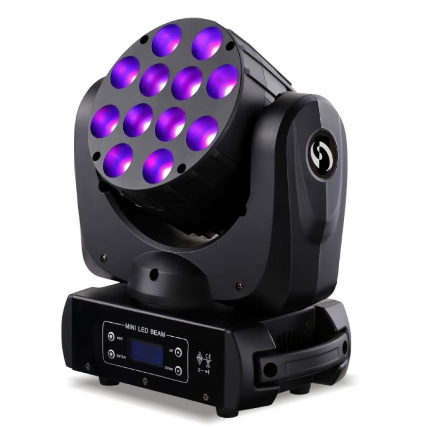SOUNDSATION MHL-10W-12 - Testa Mobile Led Wash 4in1
