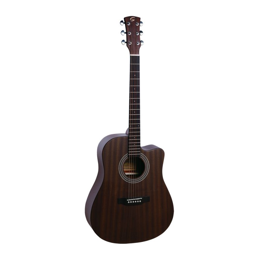 0 SOUNDSATION - Chitarra acustica Dreadnought cutaway elettrificata con finitura open pore satinata