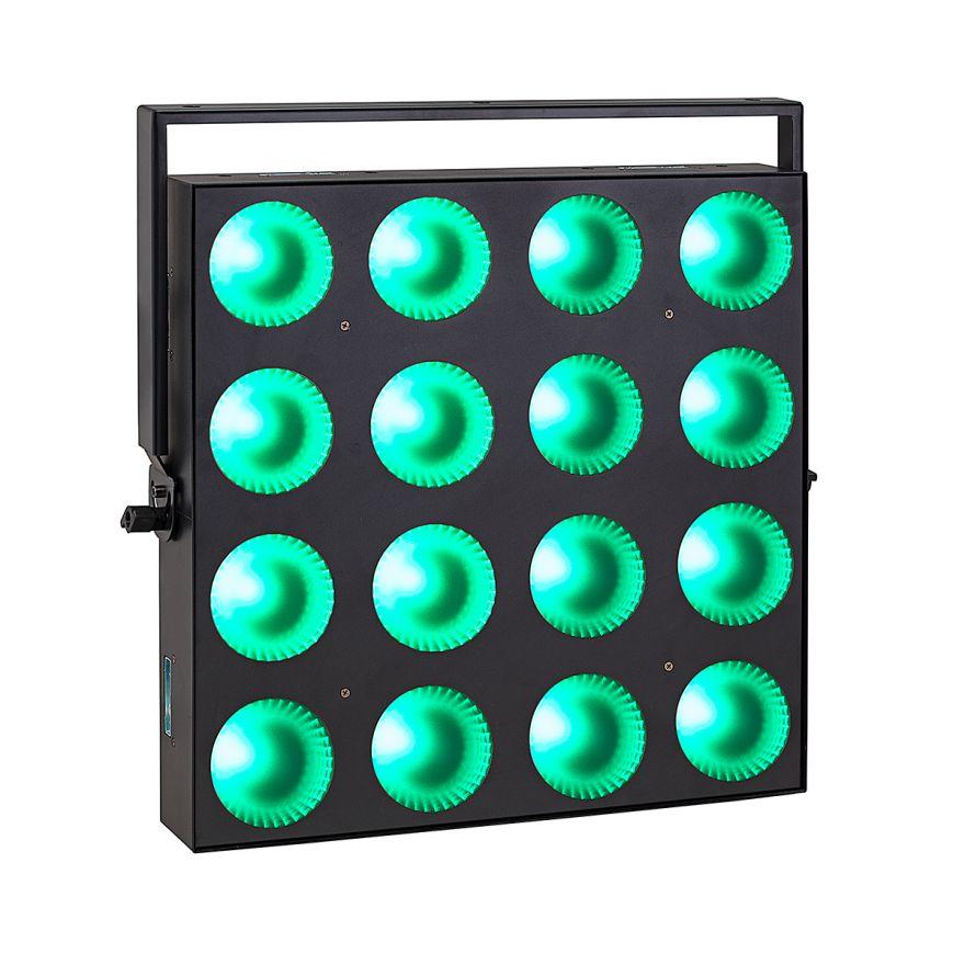 0 SOUNDSATION - Set composto da 4 accecatori 16x30W RGB COB slim modulari con Flight case