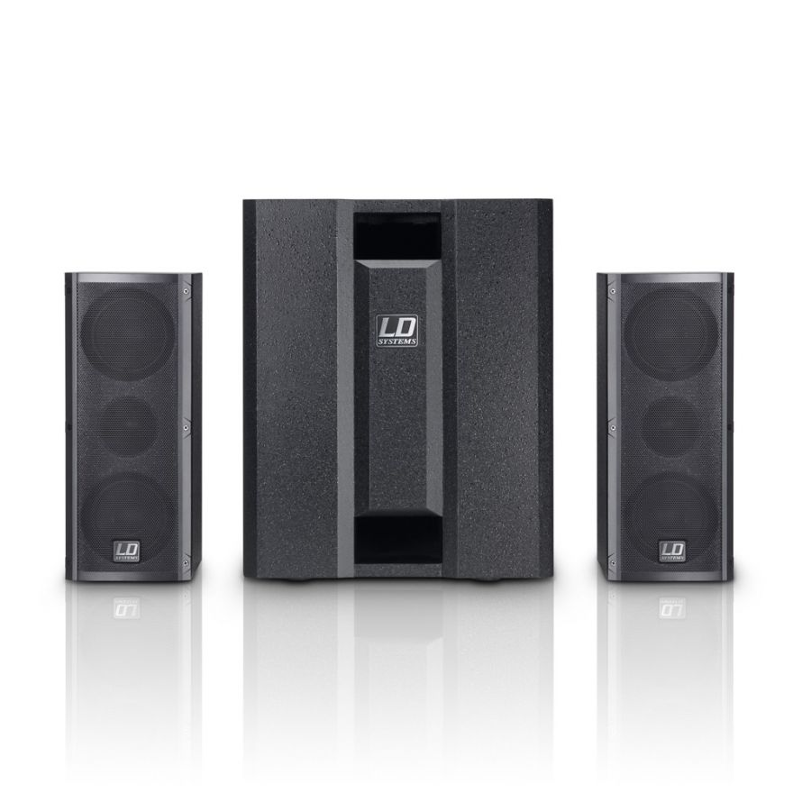 LD Systems Dave 8 Roadie - Sistema PA 2.1 1400W con Mixer 3 Ch