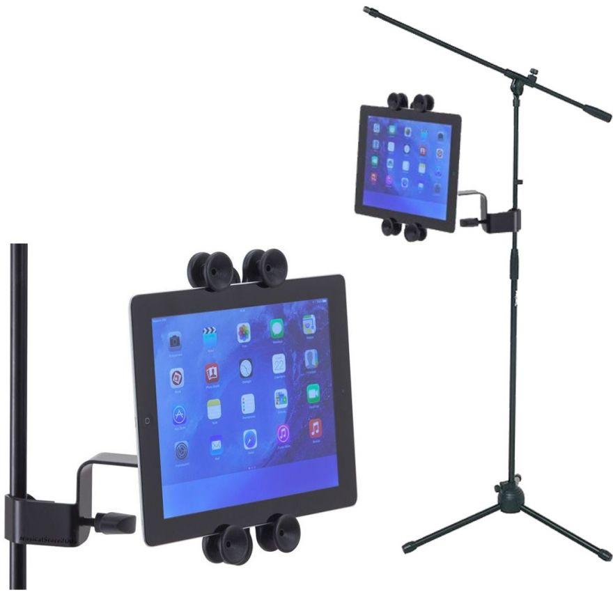 Asta microfonica professionale con supporto tablet
