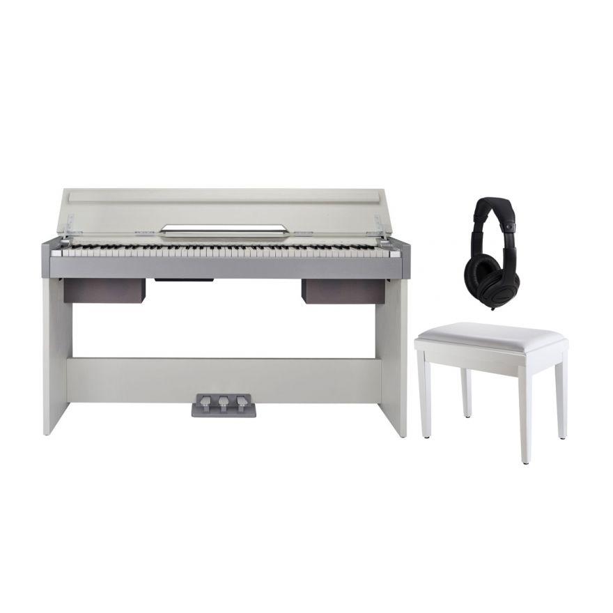 Medeli CDP 5000 W Set - Pianoforte Digitale Bianco / Panchetta / Cuffie