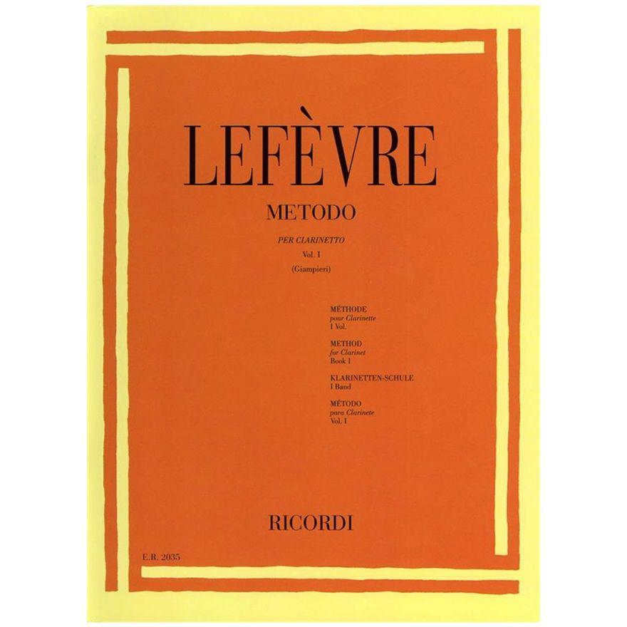 1 Metodo per Clarinetto Vol. I Lefèvre Ed. A. Giampieri Ricordi