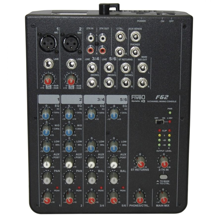 Montarbo FiveO F62 - Mixer 6 Ch