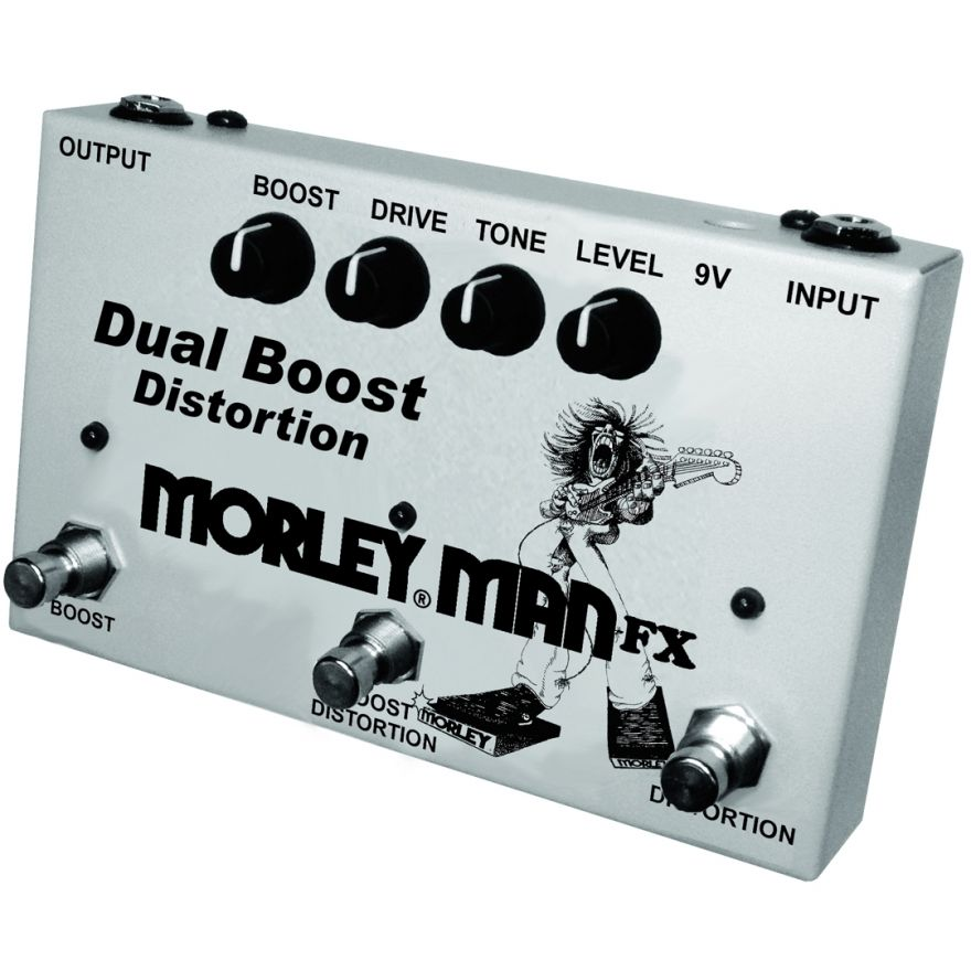 Morley Man FX Dual Boost Distortion - Pedale Boost/Distortion per Elettrica
