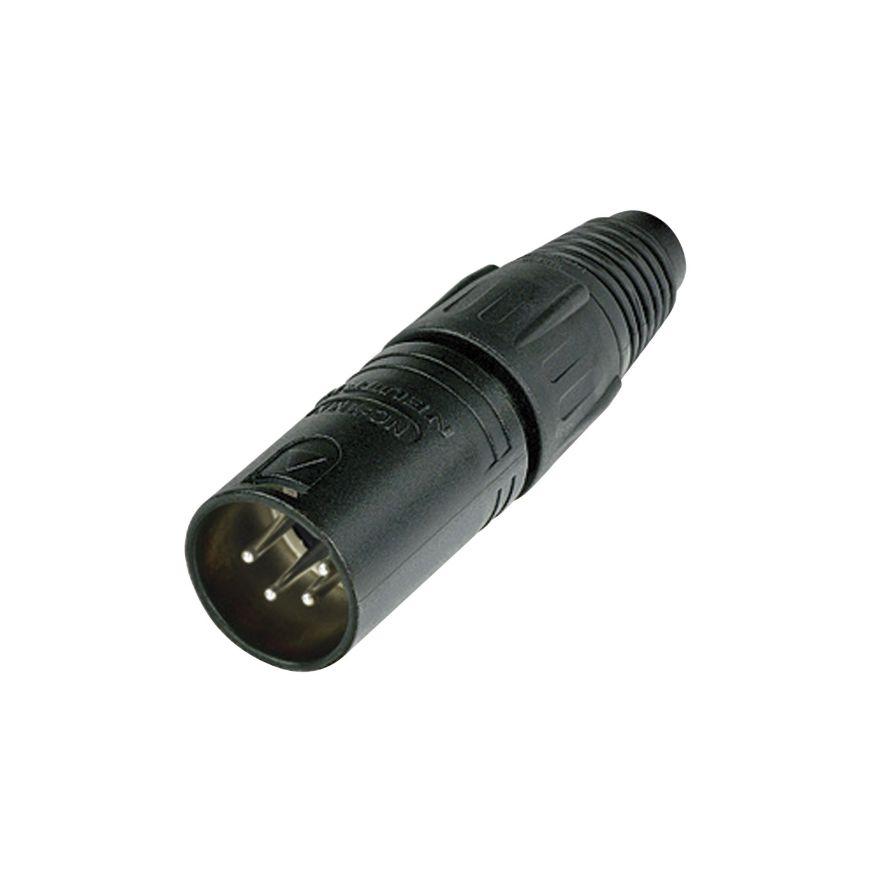 Neutrik - XLR 4p. Connector Male - Alloggiamento nero con contatti in argento