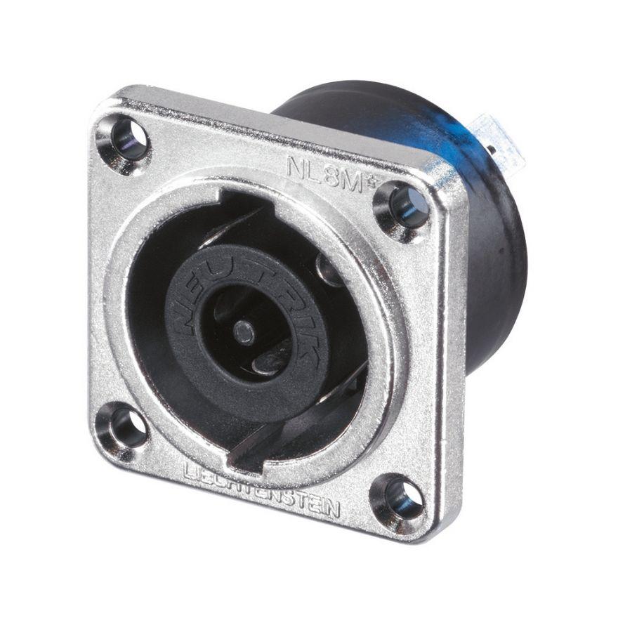 Neutrik NLT8MP - Speakon Panel-Mount Connector 8 Pin male, nickel-plated