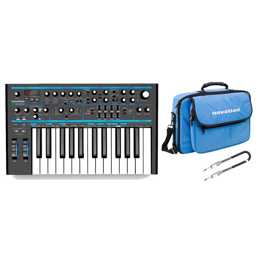 NOVATION Pack Bass Station II / Borsa / Cavo Audio Jack/Jack Bundle