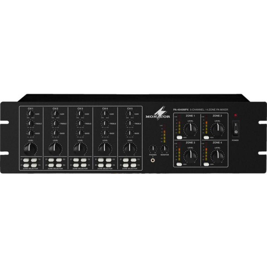 Monacor PA-4040MPX  Mixer 4 zone indipendenti
