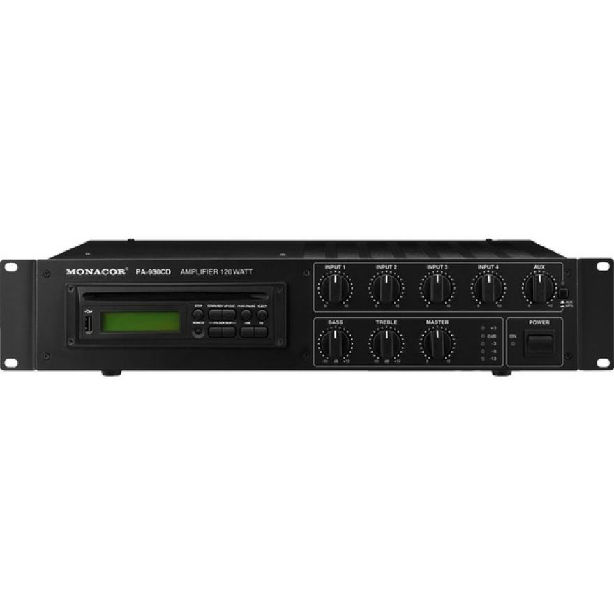 Monacor  PA-930CD Mixer ampli usb/cd integrato, 100v 120w