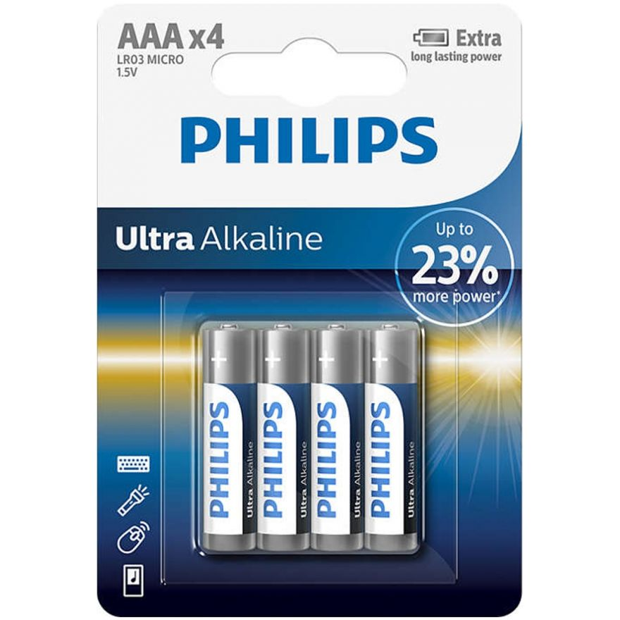 Philips ExtremeLife Plus - Batterie Pile Ministilo AAA Ultra Alcaline