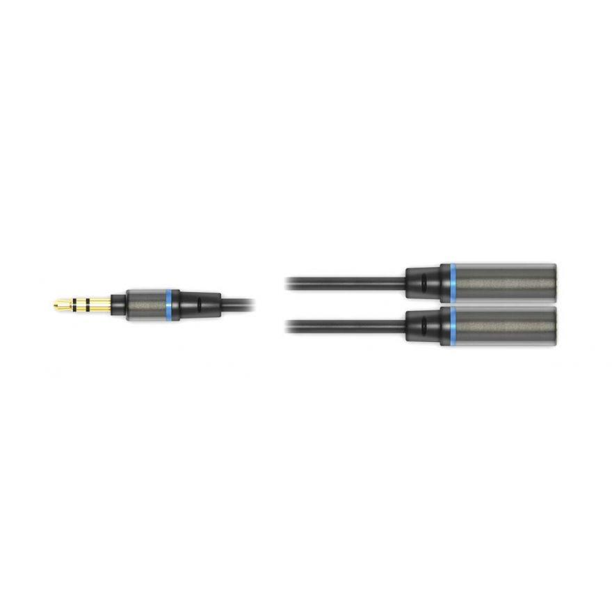"0 IK MULTIMEDIA - iLine Headphone Splitter - cavo jack stereo da 1/8"" maschio/due jack stereo 1/4"" femmina"