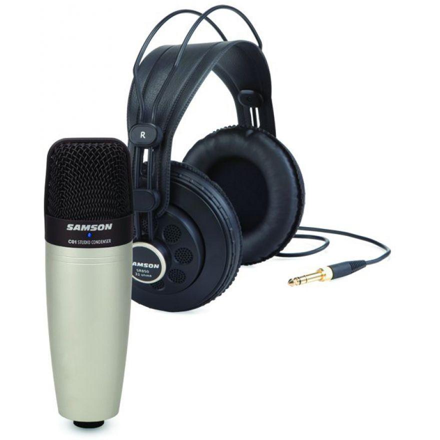 0 SAMSON - C01/SR850 - Bundle Microfono a Condensatore Cardioide + Cuffie semi-open