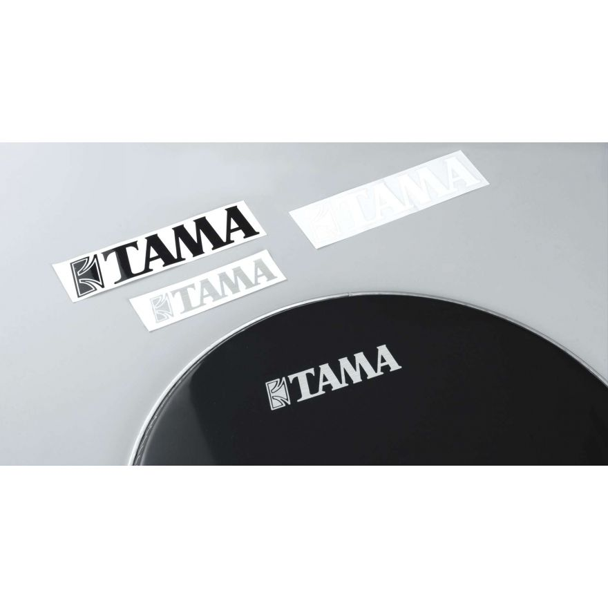 0 TAMA - TLS80-BK - adesivo logo Tama (40mm x 190mm) - nero