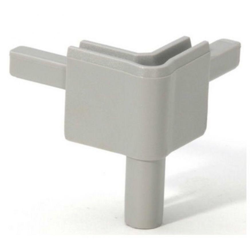 Adam Hall Hardware Q 4502 FAG - Angolo femmina grigio alluminio per Profilo di Chiusura