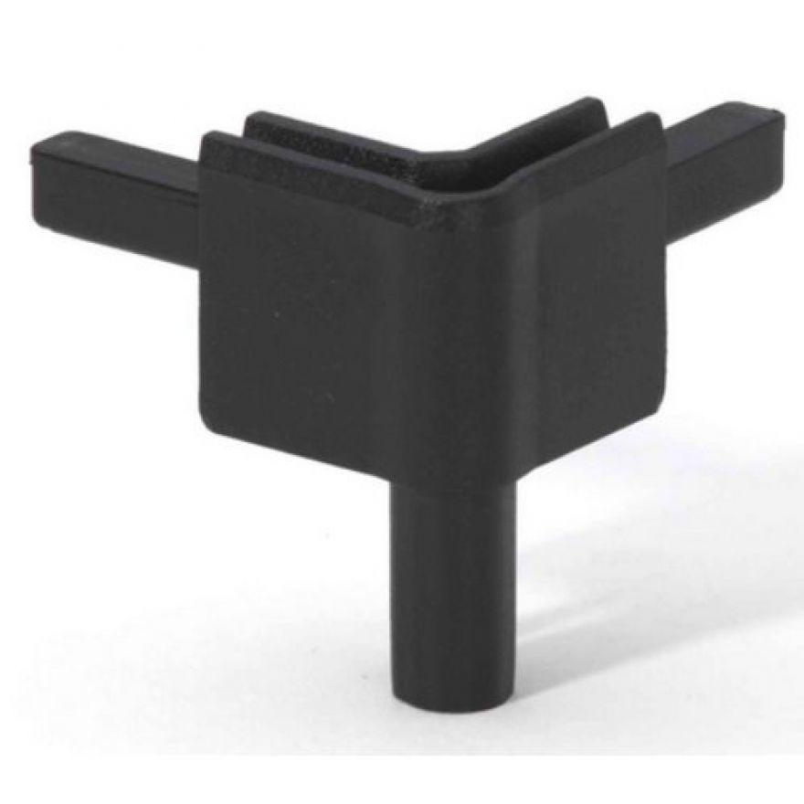 Adam Hall Hardware Q 4502 FBLK - Angolo femmina nero per Profilo di Chiusura
