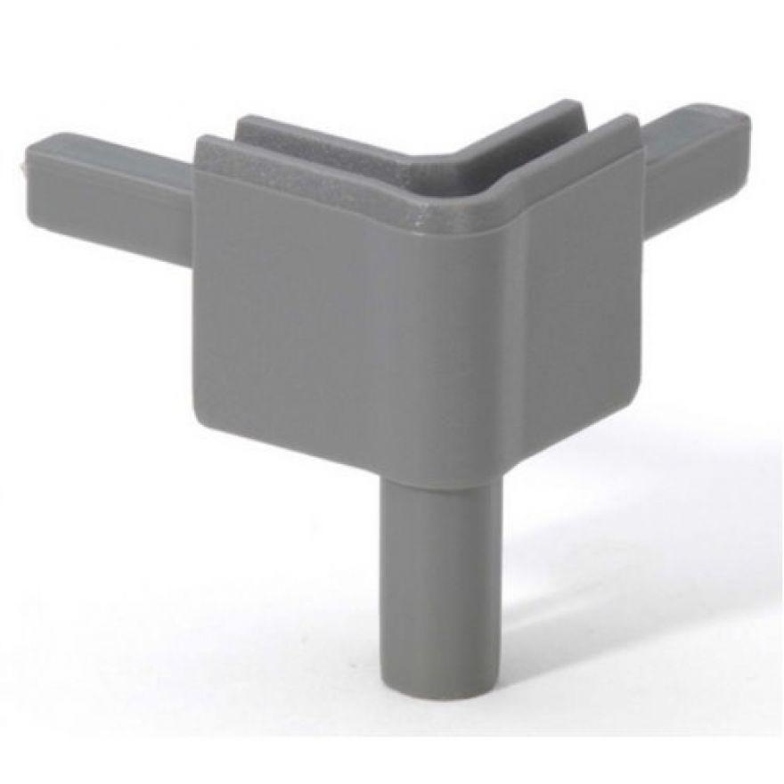 Adam Hall Hardware Q 4502 FMG - Angolo femmina grigio medio per Profilo di Chiusura