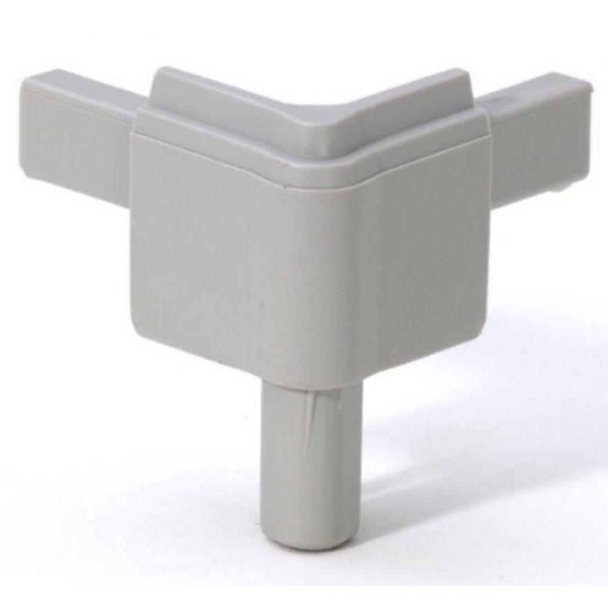 Adam Hall Hardware Q 4502 MAG - Angolo maschio grigio alluminio per Profilo di Chiusura