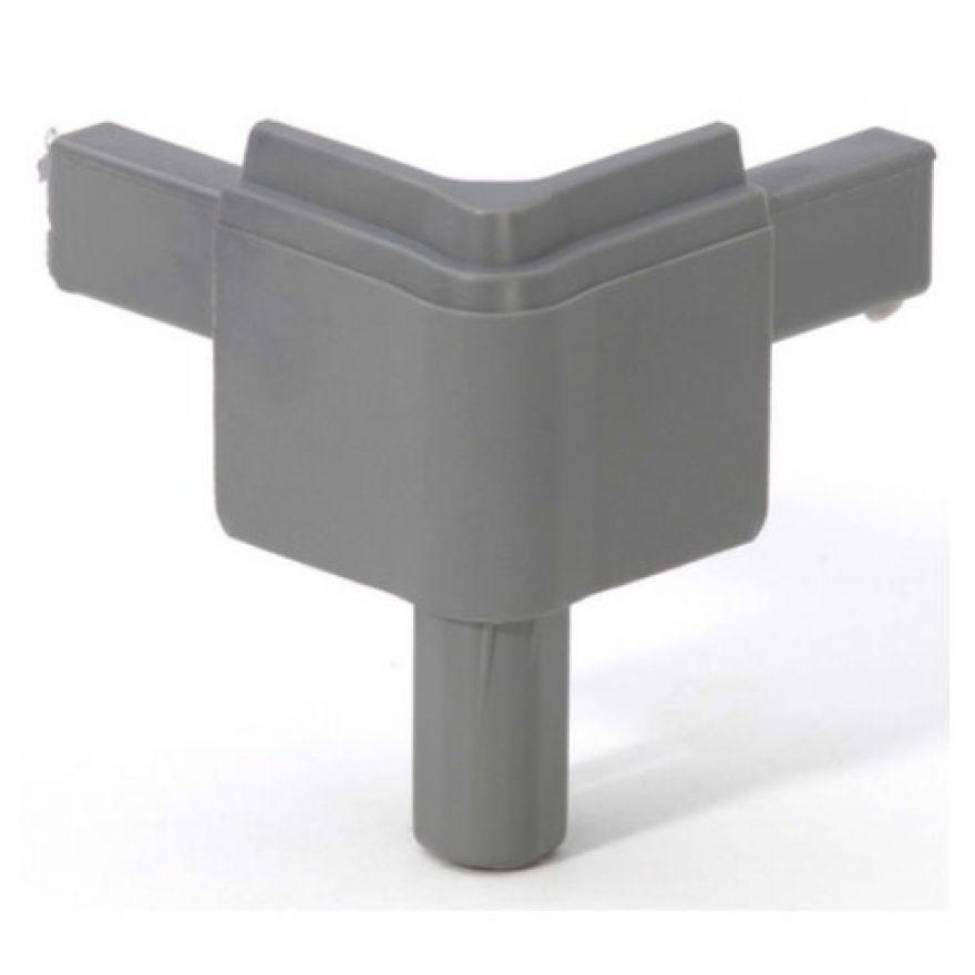 Adam Hall Hardware Q 4502 MMG - Angolo maschio grigio medio per Profilo di Chiusura