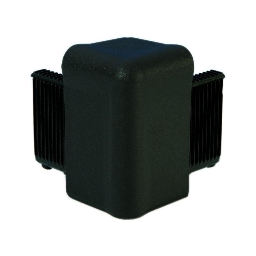 Adam Hall Hardware Q 4504 BLK - Angolo nero per Telaio di Copertura
