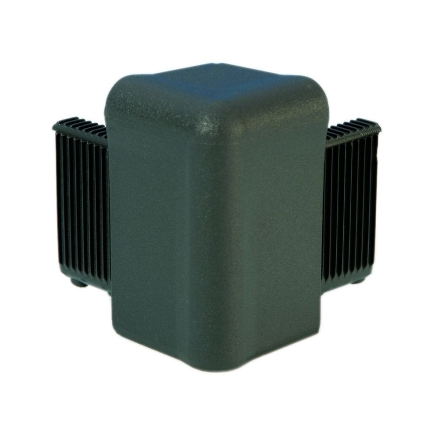 Adam Hall Hardware Q 4504 DG - Angolo grigio scuro per Telaio di Copertura