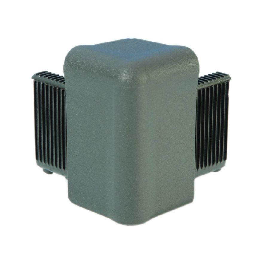 Adam Hall Hardware Q 4504 MG - Angolo grigio medio per Telaio di Copertura