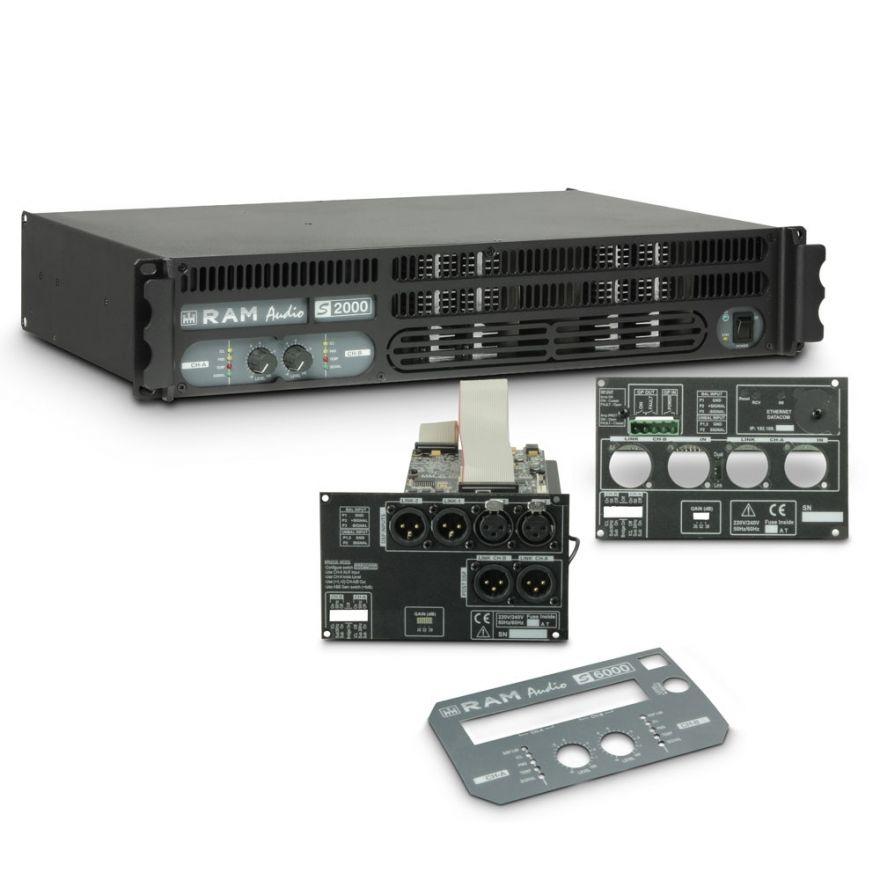 Ram Audio S 2000 DSP GPIO - Finale di potenza PA 2 x 1190 W 2 Ohm incl. modulo DSP e GPIO