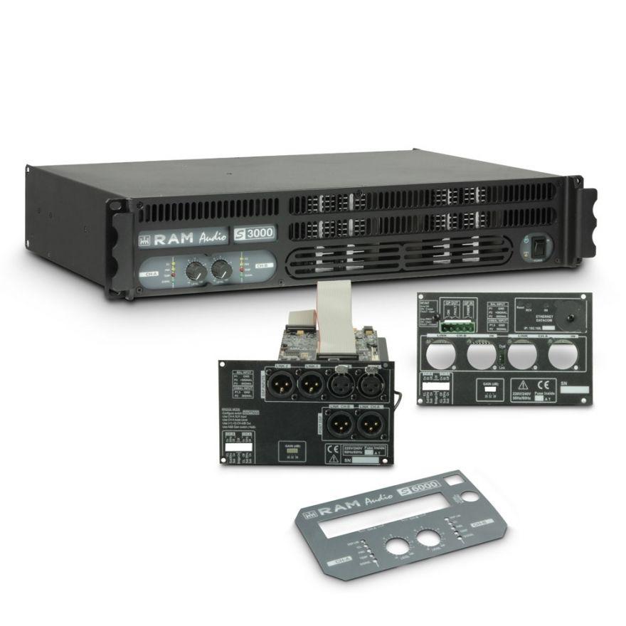 Ram Audio S 3000 DSP GPIO - Finale di potenza PA 2 x 1570 W 2 Ohm incl. modulo DSP e GPIO