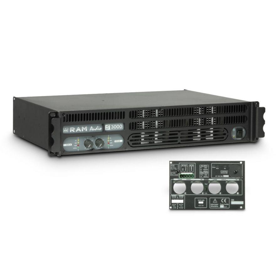 Ram Audio S 3000 GPIO - Finale di potenza PA 2 x 1570 W 2 Ohm incl. modulo GPIO