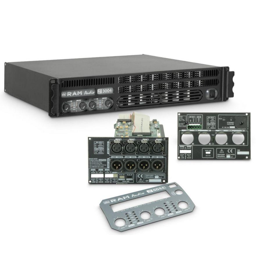Ram Audio S 3004 DSP GPIO - Finale di potenza PA 4 x 700 W 2 Ohm incl. modulo DSP e GPIO