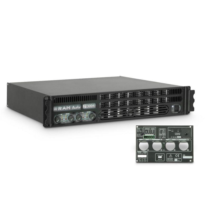 Ram Audio S 3004 GPIO - Finale di potenza PA 4 x 700 W 2 Ohm incl. modulo GPIO