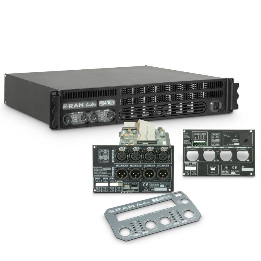 Ram Audio S 4004 DSP GPIO - Finale di potenza PA 4 x 980 W 2 Ohm incl. modulo DSP e GPIO