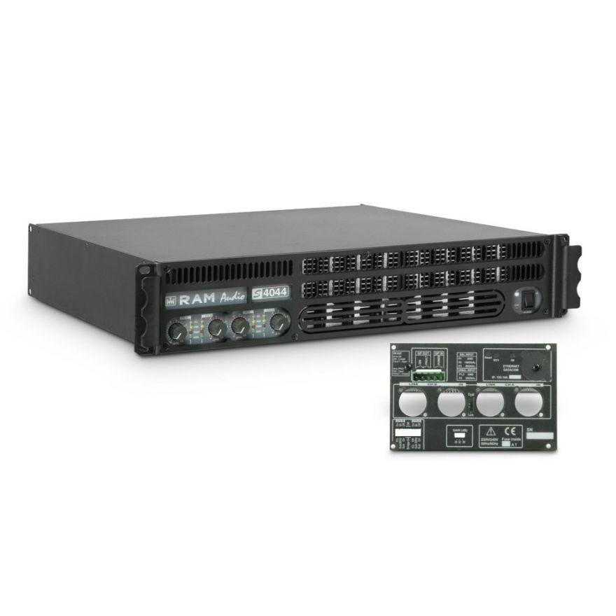Ram Audio S 4044 GPIO - Finale di potenza PA 4 x 975 W 4 Ohm incl. modulo GPIO