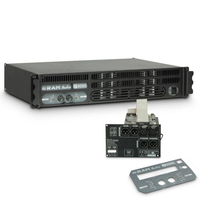 Ram Audio S 6000 DSP - Finale di potenza PA 2 x 2950 W 2 Ohm incl. modulo DSP