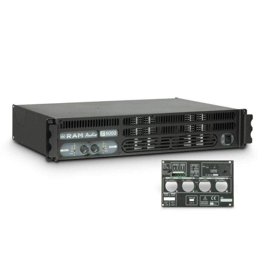 Ram Audio S 6000 GPIO - Finale di potenza PA 2 x 2950 W 2 Ohm incl. modulo GPIO