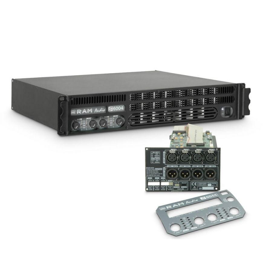 Ram Audio S 6004 DSP - Finale di potenza PA 4 x 1440 W 2 Ohm incl. modulo DSP