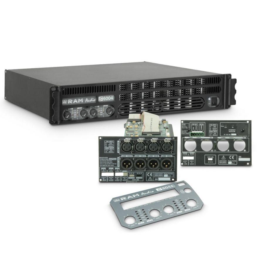 Ram Audio S 6004 DSP GPIO - Finale di potenza PA 4 x 1440 W 2 Ohm incl. modulo DSP e GPIO