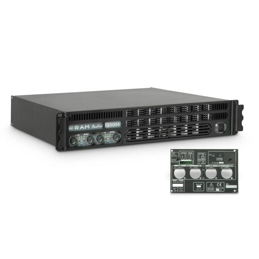 Ram Audio S 6004 GPIO - Finale di potenza PA 4 x 1440 W 2 Ohm incl. modulo GPIO