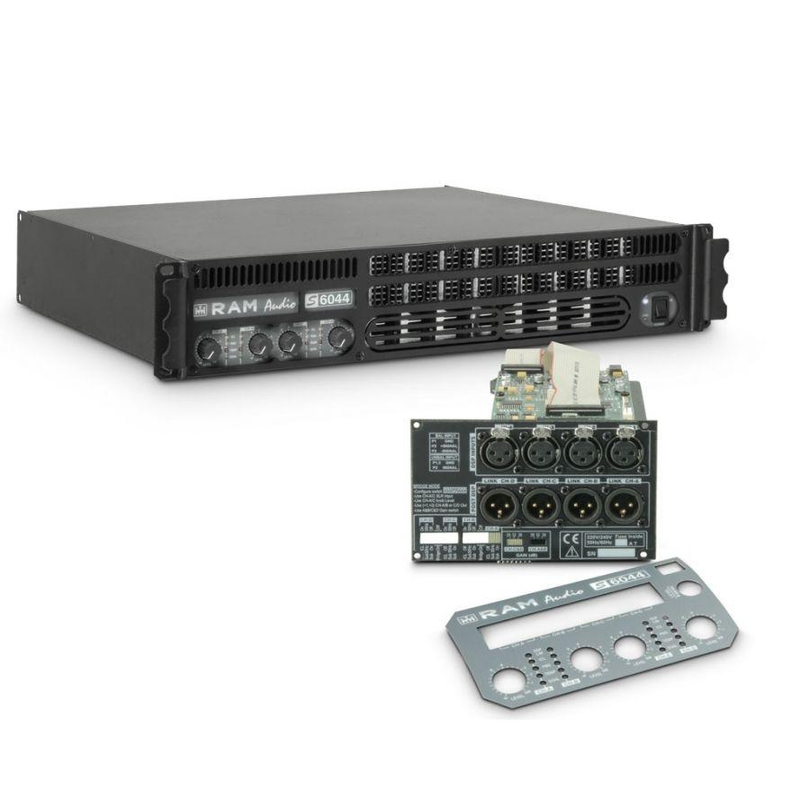Ram Audio S 6044 DSP - Finale di potenza PA 4 x 1480 W 4 Ohm incl. modulo DSP