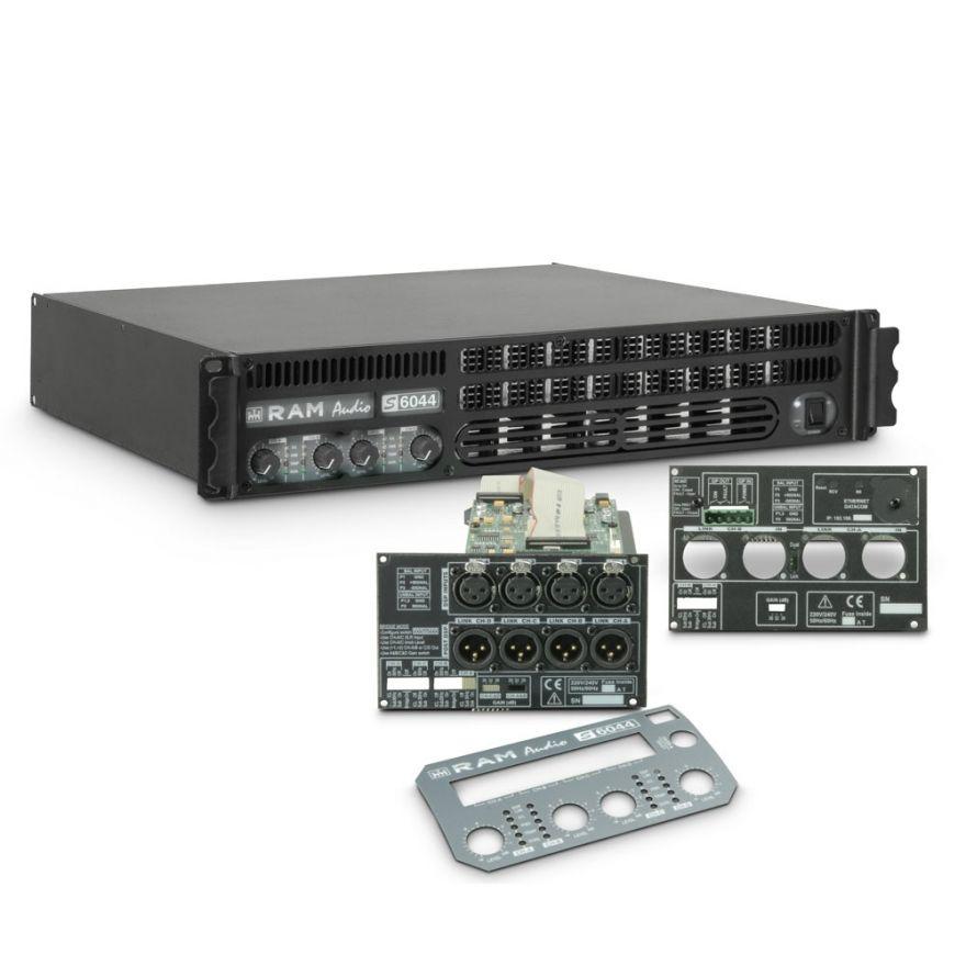 Ram Audio S 6044 DSP GPIO - Finale di potenza PA 4 x 1480 W 4 Ohm incl. modulo DSP e GPIO