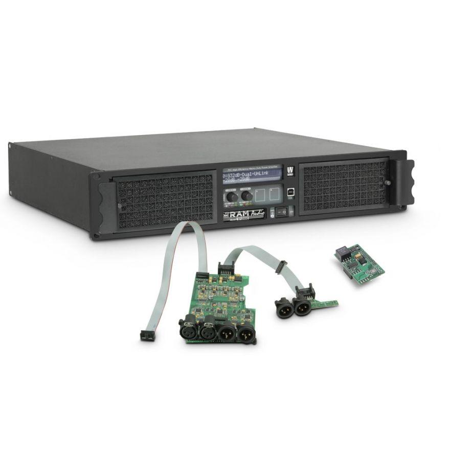 Ram Audio W 12000 DSP AES - Finale di potenza PA 2 x 5900 W 2 Ohm incl. modulo DSP con ingresso digitale AES/EBU