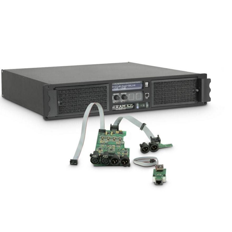 Ram Audio W 12000 DSP E - Finale di potenza PA 2 x 5900 W 2 Ohm incl. modulo DSP + Ethernet