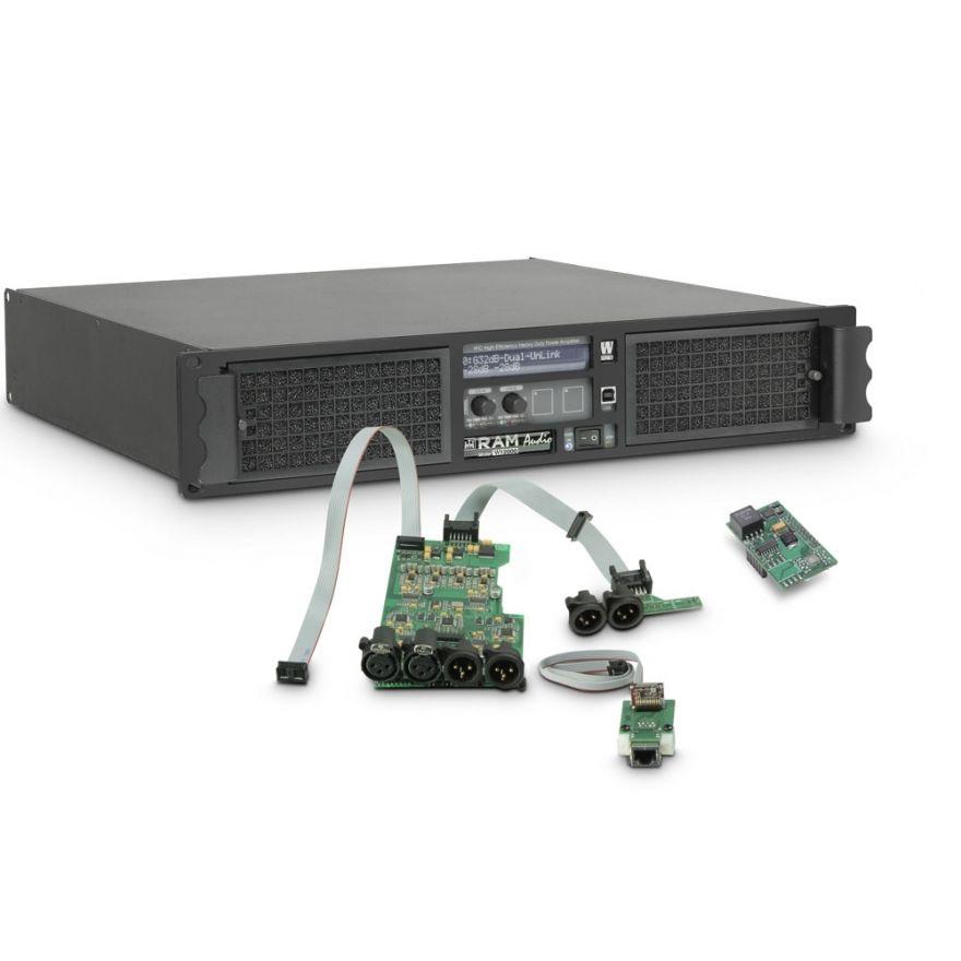 Ram Audio W 12000 DSP E AES - Finale di potenza PA 2 x 5900 W 2 Ohm incl. modulo DSP con ingresso digitale AES/EBU + Ethernet